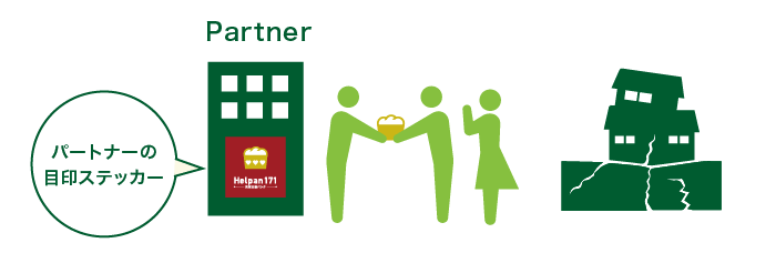 備蓄したパンを被災者へ提供